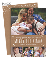 Merry Christmas on Kraft Band 5x7 Flat Card