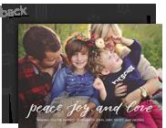 Peace, Joy and Love Overlay 7x5 Flat Card
