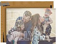 Bold Jolly Overlay 7x5 Flat Card