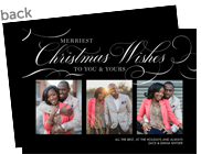 Formal Christmas Wishes 7x5 Flat Card
