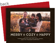 Merry Cozy Happy 7x5 Flat Card