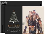 Line Art Christmas Tree 7x5 Flat Card