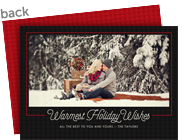 Holiday Wishes Photo Frame 7x5 Flat Card