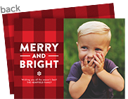 Merry and Bright - Red Plaid 7x5 Flat Card