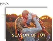 Season of Joy - White & Gold Overlay 7x5 Flat Card
