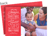 The Magic of Christmas 7x5 Flat Card