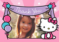 Hello Kitty - Thank You Note Card 5.25x3.75 Folded Card