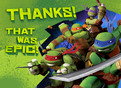 TMNT - Thank You Note Card 5.25x3.75 Folded Card