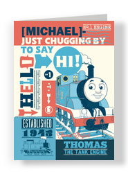 Thomas - Birthday Hi 5x7 Folded Card