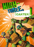 TMNT - High-three 5x7 Folded Card