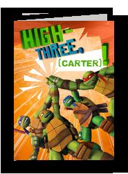 TMNT - High-three 5x7 Folded Card