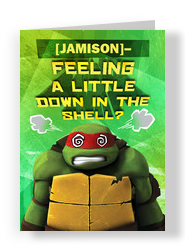 TMNT - Down in the Shell 5x7 Folded Card