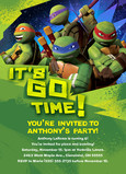 TMNT - Party Invitation 5x7 Flat Card