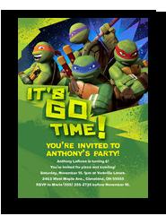 TMNT - Party Invitation 5x7 Flat Card