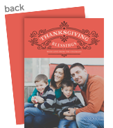 thanksgiving blessings 5x7 Flat Card