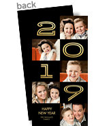 2017 - Gold Numbers on Black 4x8 Flat Card