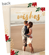 Holiday Wishes - Gold Overlay 5x7 Flat Card