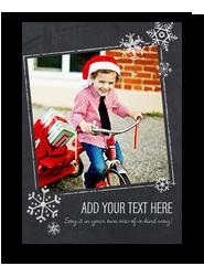 CYO - Snowflakes and Chalkboard 5x7 Flat Card