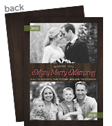 Merry Memories - Then & Now 5x7 Flat Card