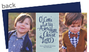 O Come Let Us Adore Him 8x4 Flat Card