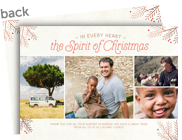 The Spirit of Christmas 7x5 Flat Card