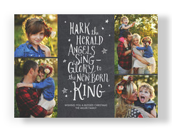 Hark the Herald Angels - Chalkboard 7x5 Flat Card