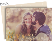 Rejoice - Gold Overlay 7x5 Flat Card