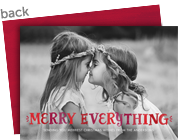 Merry Everything 7x5 Flat Card