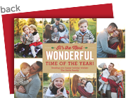 The Most Wonderful Time 7x5 Flat Card
