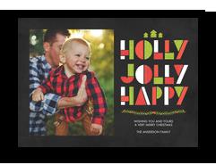 Holly Jolly Happy 7x5 Flat Card