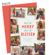 Merry and Blessed 5x7 Flat Card
