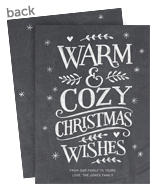 Warm & Cozy Chalkboard - No Photo 5x7 Flat Card