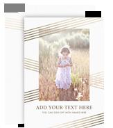 CYO Gold Stripe Pattern 5x7 Flat Card