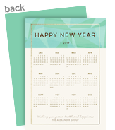 New Year Calendar - 2019 5x7 Flat Card