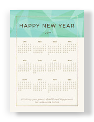 New Year Calendar - 2017 5x7 Flat Card