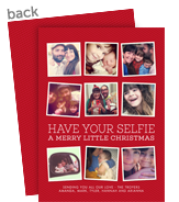 Christmas Selfies 5x7 Flat Card