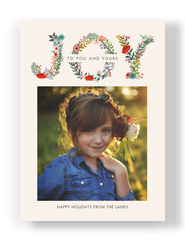 Holiday Floral Joy 5x7 Flat Card