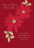 Feliz Navidad - Poinsettias (Spanish) 5x7 Folded Card