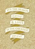Glittery Season of Giving 5x7 Folded Card