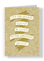 Glittery Season of Giving 5x7 Folded Card