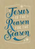 The Reason for the Season - No Photo 5x7 Folded Card