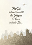 John 3:16 - Gold Foil - No Photo 5x7 Folded Card
