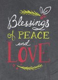 Blessings of Peace - No Photo 5x7 Folded Card