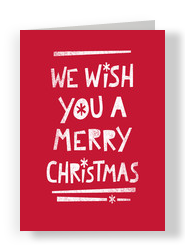 We Wish You a Merry Christmas - No Photo 5x7 Folded Card
