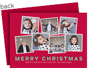 Merry Christmas on Red 7x5 Flat Card