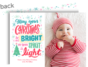 Light Bright Christmas 7x5 Flat Card