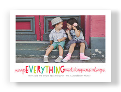 Merry Everything, Happiness Always 7x5 Flat Card