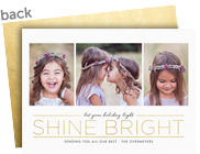 Shine Bright 7x5 Flat Card