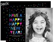 Happy Happy New Year 7x5 Flat Card