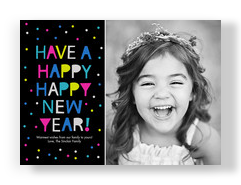 Happy Happy New Year 7x5 Flat Card